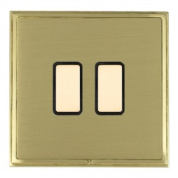 Hamilton Linea-Scala CFX Satin Brass/Satin Brass 2 Gang Multi way Touch Master Trailing Edge with Black Insert