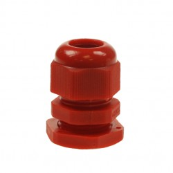 20mm Red Nylon Cable Gland With Small Hole