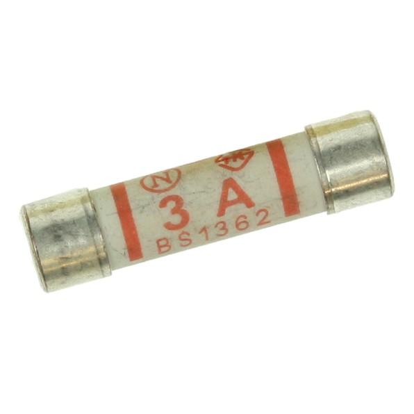 10 Ceramic 3 Amp Plug Fuses At Uk Electrical Supplies