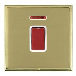 Hamilton Linea-Scala CFX Polished Brass/Satin Brass 1 Gang 45A Double Pole Red Rocker + neon with White I...