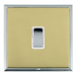 Hamilton Linea-Scala CFX Bright Chrome/Polished Brass 1 Gang Push To Make Retractive Rocker with White In...