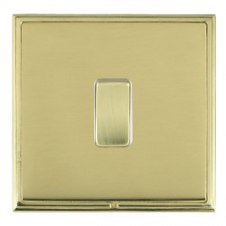Hamilton Linea-Scala CFX Polished Brass/Polished Brass 1 Gang Push To Make Retractive Rocker with White I...