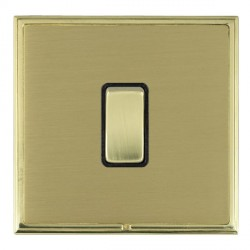 Hamilton Linea-Scala CFX Polished Brass/Satin Brass 1 Gang Push To Make Retractive Rocker with Black Insert