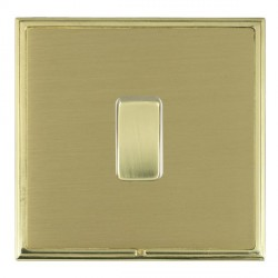 Hamilton Linea-Scala CFX Polished Brass/Satin Brass 1 Gang Push To Make Retractive Rocker with White Inse...