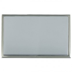 Hamilton Linea-Scala CFX Satin Nickel/Bright Steel Double Blank Plate