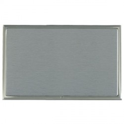 Hamilton Linea-Scala CFX Satin Nickel/Satin Steel Double Blank Plate