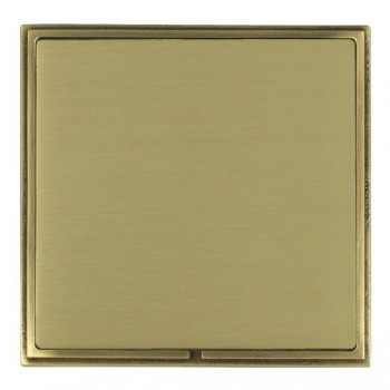 Hamilton Linea-Scala CFX Antique Brass/Satin Brass Single Blank Plate