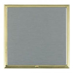 Hamilton Linea-Scala CFX Polished Brass/Satin Steel Single Blank Plate