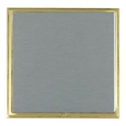 Hamilton Linea-Scala CFX Satin Brass/Satin Steel Single Blank Plate