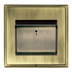 Hamilton Linea-Scala CFX Antique Brass/Antique Brass 1 Gang On/Off 10A Card Switch with Blue LED Locator ...