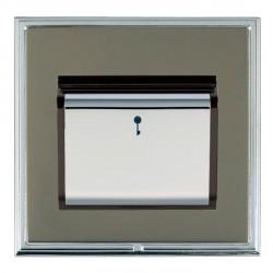 Hamilton Linea-Scala CFX Bright Chrome/Black Nickel 1 Gang On/Off 10A Card Switch with Blue LED Locator w...