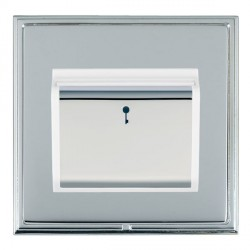Hamilton Linea-Scala CFX Bright Chrome/Bright Chrome 1 Gang On/Off 10A Card Switch with Blue LED Locator ...