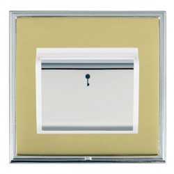 Hamilton Linea-Scala CFX Bright Chrome/Polished Brass 1 Gang On/Off 10A Card Switch with Blue LED Locator...