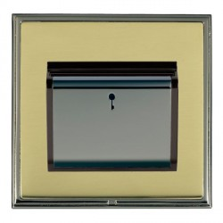 Hamilton Linea-Scala CFX Black Nickel/Polished Brass 1 Gang On/Off 10A Card Switch with Blue LED Locator with Black Insert