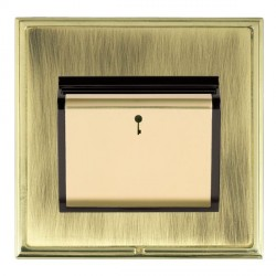 Hamilton Linea-Scala CFX Polished Brass/Antique Brass 1 Gang On/Off 10A Card Switch with Blue LED Locator...