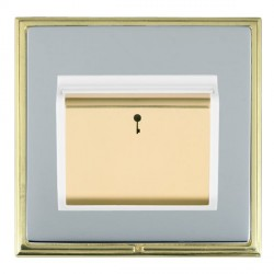Hamilton Linea-Scala CFX Polished Brass/Bright Steel 1 Gang On/Off 10A Card Switch with Blue LED Locator ...