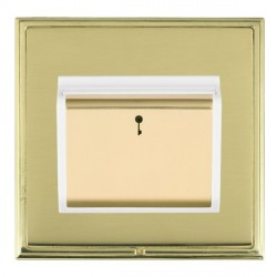 Hamilton Linea-Scala CFX Polished Brass/Polished Brass 1 Gang On/Off 10A Card Switch with Blue LED Locato...