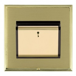 Hamilton Linea-Scala CFX Polished Brass/Satin Brass 1 Gang On/Off 10A Card Switch with Blue LED Locator with Black Insert
