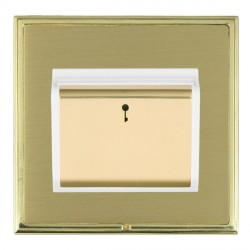 Hamilton Linea-Scala CFX Polished Brass/Satin Brass 1 Gang On/Off 10A Card Switch with Blue LED Locator w...