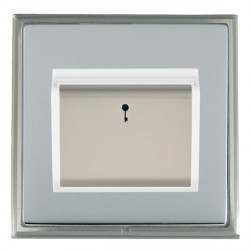 Hamilton Linea-Scala CFX Satin Nickel/Bright Steel 1 Gang On/Off 10A Card Switch with Blue LED Locator wi...