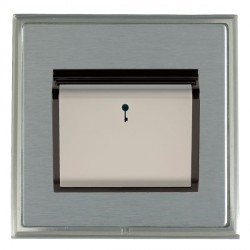 Hamilton Linea-Scala CFX Satin Nickel/Satin Steel 1 Gang On/Off 10A Card Switch with Blue LED Locator with Black Insert