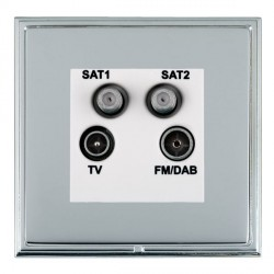 Hamilton Linea-Scala CFX Bright Chrome/Bright Steel TV+FM+SAT+SAT (DAB Compatible) with White Insert