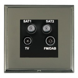 Hamilton Linea-Scala CFX Black Nickel/Black Nickel TV+FM+SAT+SAT (DAB Compatible) with Black Insert