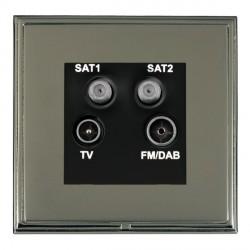 Hamilton Linea-Scala CFX Black Nickel/Black Nickel TV+FM+SAT+SAT (DAB Compatible) with Black Insert