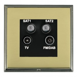 Hamilton Linea-Scala CFX Black Nickel/Polished Brass TV+FM+SAT+SAT (DAB Compatible) with Black Insert