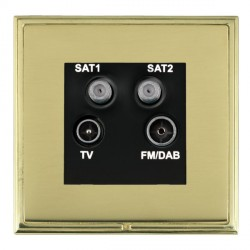 Hamilton Linea-Scala CFX Polished Brass/Polished Brass TV+FM+SAT+SAT (DAB Compatible) with Black Insert