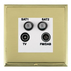 Hamilton Linea-Scala CFX Polished Brass/Polished Brass TV+FM+SAT+SAT (DAB Compatible) with White Insert