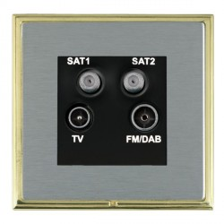 Hamilton Linea-Scala CFX Polished Brass/Satin Steel TV+FM+SAT+SAT (DAB Compatible) with Black Insert