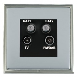 Hamilton Linea-Scala CFX Satin Nickel/Bright Steel TV+FM+SAT+SAT (DAB Compatible) with Black Insert