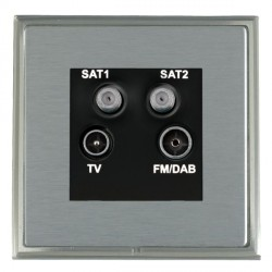 Hamilton Linea-Scala CFX Satin Nickel/Satin Steel TV+FM+SAT+SAT (DAB Compatible) with Black Insert