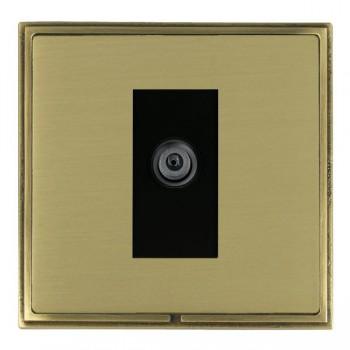 Hamilton Linea-Scala CFX Antique Brass/Satin Brass 1 Gang Digital Satellite with Black Insert
