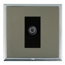 Hamilton Linea-Scala CFX Bright Chrome/Black Nickel 1 Gang Digital Satellite with Black Insert