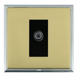 Hamilton Linea-Scala CFX Bright Chrome/Polished Brass 1 Gang Digital Satellite with Black Insert
