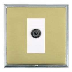 Hamilton Linea-Scala CFX Bright Chrome/Polished Brass 1 Gang Digital Satellite with White Insert