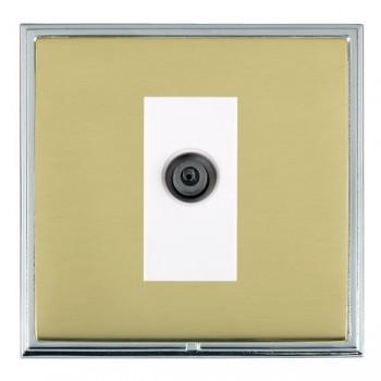 Hamilton Linea-Scala CFX Bright Chrome/Polished Brass 1 Gang Digital Satellite with White Insert