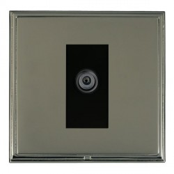 Hamilton Linea-Scala CFX Black Nickel/Black Nickel 1 Gang Digital Satellite with Black Insert