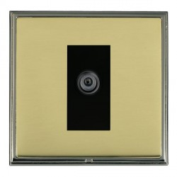 Hamilton Linea-Scala CFX Black Nickel/Polished Brass 1 Gang Digital Satellite with Black Insert