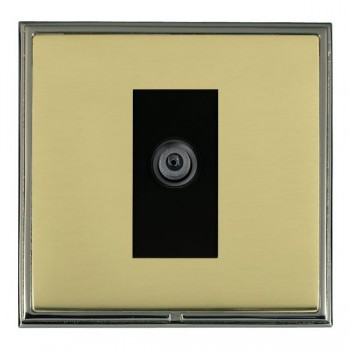 Hamilton Linea-Scala CFX Black Nickel/Polished Brass 1 Gang Digital Satellite with Black Insert