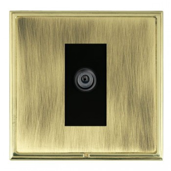 Hamilton Linea-Scala CFX Polished Brass/Antique Brass 1 Gang Digital Satellite with Black Insert