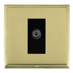 Hamilton Linea-Scala CFX Polished Brass/Polished Brass 1 Gang Digital Satellite with Black Insert