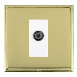 Hamilton Linea-Scala CFX Polished Brass/Polished Brass 1 Gang Digital Satellite with White Insert