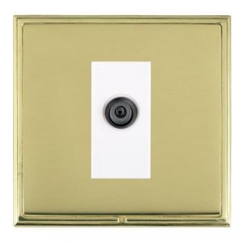 Hamilton Linea-Scala CFX Polished Brass/Polished Brass 1 Gang Digital Satellite with White Insert