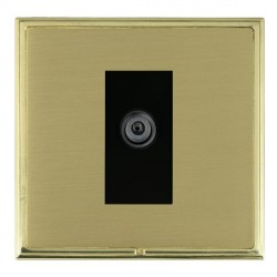 Hamilton Linea-Scala CFX Polished Brass/Satin Brass 1 Gang Digital Satellite with Black Insert