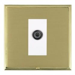 Hamilton Linea-Scala CFX Polished Brass/Satin Brass 1 Gang Digital Satellite with White Insert