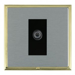 Hamilton Linea-Scala CFX Polished Brass/Satin Steel 1 Gang Digital Satellite with Black Insert