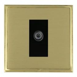 Hamilton Linea-Scala CFX Satin Brass/Satin Brass 1 Gang Digital Satellite with Black Insert